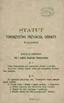 Statut Towarzystwa Przyjaciół Oświaty w Krakowie