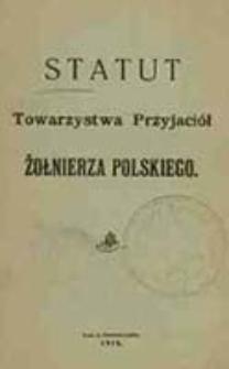 Statut Towarzystwa Przyjaciół Żołnierza Polskiego