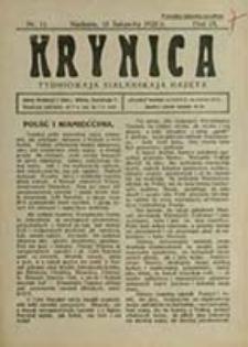 Krynica : katalickaja tydniowaja hazeta / [red. i wyd. Adam Stankiewič]
