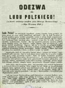 Odezwa do Ludu Polskiego! : w skutek ostatniego pamfletu pana Hilarego Meciszewskiego z 26go września 1848 / [Grzegorz Rozumiłowski]