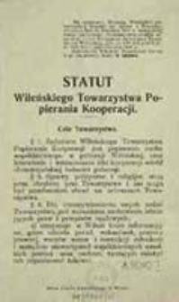 Statut Wileńskiego Towarzystwa Popierania Kooperacji