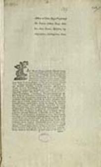 [Zakon Maltański w Polszcze Inc.] : Actum in Curia Regia Varsaviensi Die Decima Octava Mensis Octobris Anno Domini Millesimo, Septingentesimo, Septuagesimo, Sexto