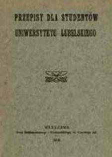 Przepisy dla studentów Uniwersytetu Lubelskiego