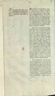 Tłómaczenie Noty Xcia Imci Czartoryskiego Stolnika Litt: podaney Ministerio Berlińskiemu, dnia 27 Kwietnia 1789. Roku w Berlinie / I. X. Czartoryski