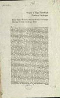 Wypis z Xiąg Ziemskich Powiatu Łuckiego : Roku Tysiąc Siedemset Dziewięćdziesiąt Czwartego Miesiąca Stycznia Siodmego Dnia