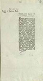 Projekt od Deputacyi Rządowey : Urządzenie względem Adiutantów i Fligel Adiutantów przy WW. Hetmanach i Generałach Emploiowanych będących