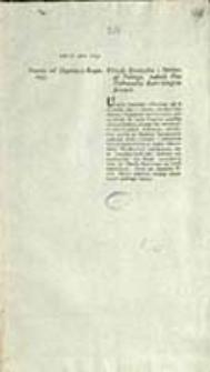 Projekt od Deputacyi Rządowey : Urzędy Strażnika i Oboźnego Polnego, tudzież Plac Pułkownika Kart Geograficznych
