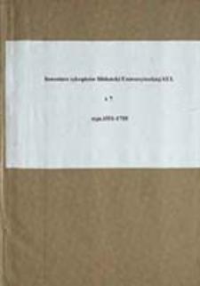 Inwentarz rękopisów Biblioteki Uniwersyteckiej KUL T. 7