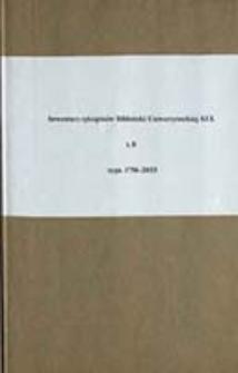 Inwentarz rękopisów Biblioteki Uniwersyteckiej KUL T. 8