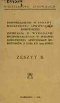 Rozporządzenie w sprawie dodatkowej aprowizacji robotniczej : instrukcja o wykonaniu rozporządzenia w sprawie aprowizacji robotników z dnia 8/X 1919 roku. Z. 2. / Ministerstwo Aprowizacji