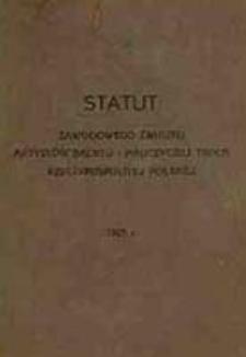 Statut Zawodowego Związku Artystów Baletu i Nauczycieli Tańca Rzeczpospolitej Polskiej