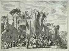 [Pokłon Trzech Króli] [Dokument ikonograficzny] / J. W. Baur inv. ; Melchior Küsell fecit
