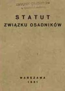 Statut Związku Osadników