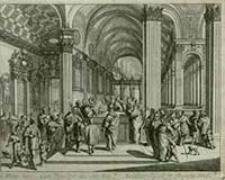 [Ofiarowanie Dzieciątka w świątyni] [Dokument ikonograficzny] / J. W. Baur inv. ; Melchior Küsell fecit