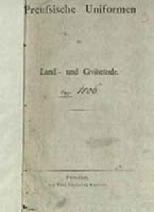 Preussische Uniformen der Land - und Civilstände / [Schmidt L.]