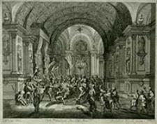 [Chrystus przed Herodem] [Dokument ikonograficzny] / J. W. Baur inv. ; Melchior Küsell fecit