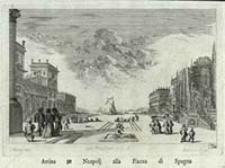 Arriva zu Neapolj alla Piazza di Spagna [Dokument ikonograficzny] / J. W. Baur inv. ; Melchior Küsell f.