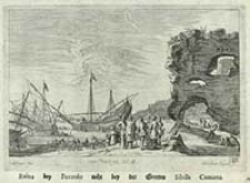 Ruina bey Pozzolo nahe bey der Grotten Sibilla Cumana [Dokument ikonograficzny] / J. W. Baur inv. ; Melchior Küsell f.