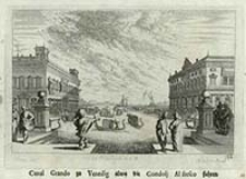 Canal Grando zu Venedig alwa die Gondolj Al fresco fahren [Dokument ikonograficzny] / J. W. Baur inv. ; Melchior Küsell fecit