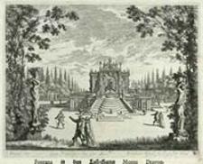 Fontana in dem Lust-Garten Monte Dragon [Dokument ikonograficzny] / J. W. Baur inv. ; Melchior Küsell fe.