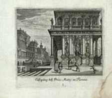 Lustgäng des Princ. Mattej in Florenz [Dokument ikonograficzny] / [J. W. Baur inv. ; Melchior Küsell fecit]