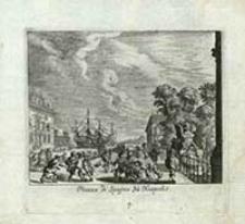 Piazza di Spagna zu Neapolis [Dokument ikonograficzny] / [J. W. Baur inv. ; Melchior Küsell fecit]