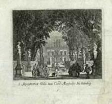 Aqvaviva Villa dem Card. Montalto zu Ständig [Dokument ikonograficzny] / [J. W. Baur inv. ; Melchior Küsell fecit]