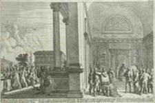 [Doprowadzenie Chrystusa przed Piłata] [Dokument ikonograficzny] / [J. W. Baur inv. ; Melchior Küsell fecit]