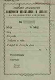 Statut Związku Zawodowego Robotników Budowlanych w Lublinie