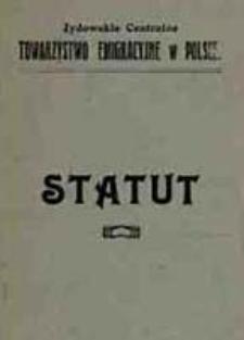 Statut Żydowskiego Centralnego Towarzystwa Emigracyjnego w Polsce
