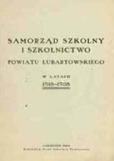 Samorząd szkolny i szkolnictwo powiatu lubartowskiego w latach 1918-1938