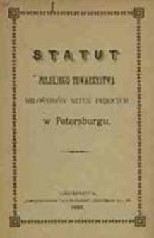 Statut Polskiego Towarzystwa Miłośników Sztuk Pięknych