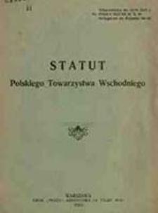 Statut Polskiego Towarzystwa Wschodniego