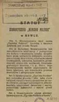 """Statut Stowarzyszenia """"Ognisko Polskie"""" w Kowlu"""