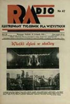 Radjo : ilustrowany tygodnik dla wszystkich / red. nacz.: Zdzisław Kleszczyński]