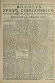 """Biuletyn Spraw Ziemiańskich : dodatek do """"Przeglądu Ziemiańskiego"""" / [Red. Stanisław Jarkowski]"""