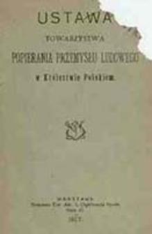 Ustawa Towarzystwa Popierania Przemysłu Ludowego w Królestwie Polskiem