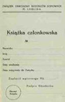 Ustawa Związku Zawodowego Dozorców Domowych m. Lublina