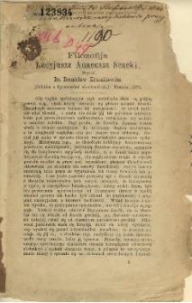 Filozofija Lucyjusza Anneusza Seneki / napisał Bronisław Kruczkiewicz.