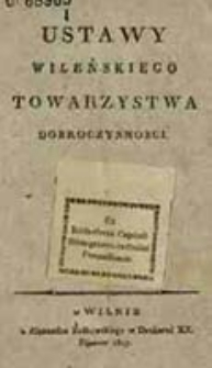 Ustawy Wileńskiego Towarzystwa Dobroczynności