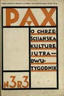 Pax : miesięcznik Porozumienia Akademickich Katolickich Stowarzyszeń