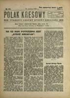 Polak Kresowy : tygodnik ludu polskiego na ziemiach kresowych / pod red. Bolesława Srockiego