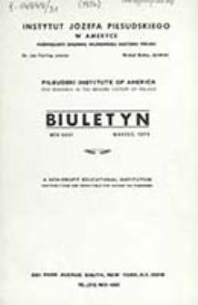 Biuletyn / Instytut Józefa Piłsudskiego w Ameryce Poświęcony Badaniu Najnowszej Historji Polski