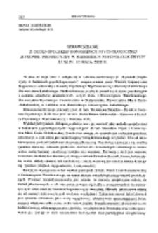 """Sprawozdanie z Ogólopolskiej Konferencji Psychologicznej """" Rysunek projekcyjny w badaniach psychologicznych """"Lublin, 10 maja 2002 r."""