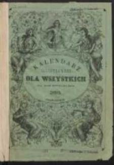 Kalendarz Illustrowany dla Wszystkich na Rok Zwyczajny 1893.