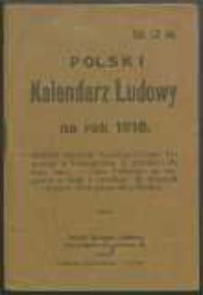 Polski Kalendarz Ludowy na Rok 1918.