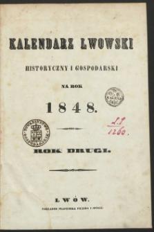 Powszechny Kalendarz Lwowski Historyczny i Gospodarski na Rok 1848.