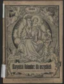 Maryański Kalendarz dla Wszystkich na Rok 1921 Ozdobiony Licznymi Obrazkami.