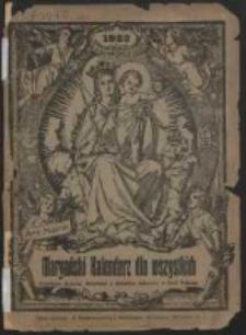 Maryański Kalendarz dla Wszystkich na Rok 1923 Ozdobiony Licznymi Obrazkami.
