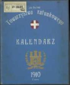 Kalendarz Towarzystwa Stacyi Ratunkowej na Rok 1910.